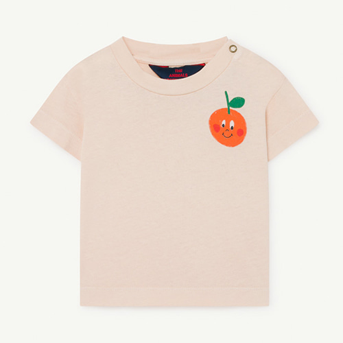 [12m]Rooster Baby Tshirt 1126_192 (red orange)