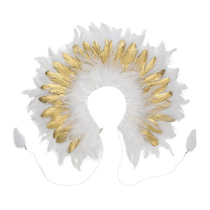 Feather Collar (white/gold)