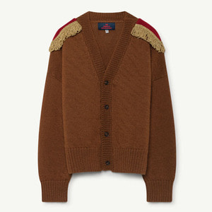 Plain Peasant Cardigan (deep brown)