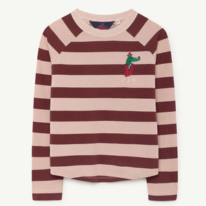 [2y]Cricket Tshirt (rose maroon stripes)