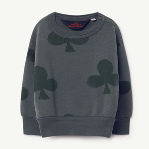 [12,18m]Bear Baby Sweatshirt (grey clovers)