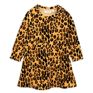 Leopard Velour Dress