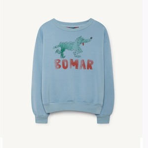 [3,4,6y]Bear Sweatshirt (blue green bomar)
