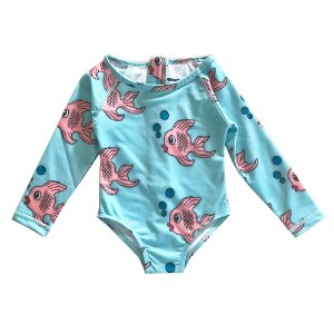 Surf onesie (blue fish)
