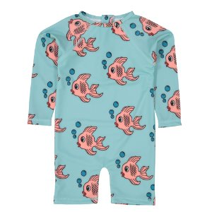 Rash Baby onesie (blue fish)