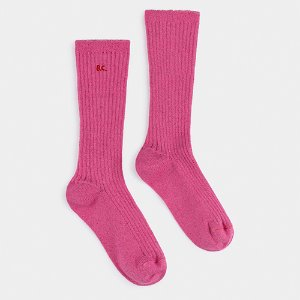 Lurex Pink Socks #307