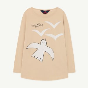 Deer Tshirt 1136_026 (brown birds)