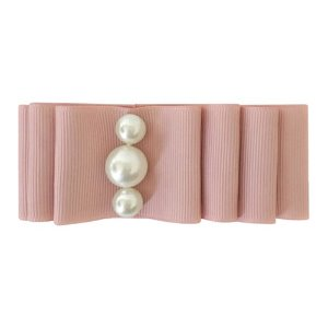 Pearl Layered Bow Antique Mauve