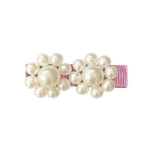 2 Pearls Flower Clip Wild Rose