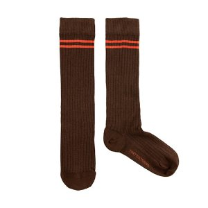 Stripes High Socks #368 (brown)