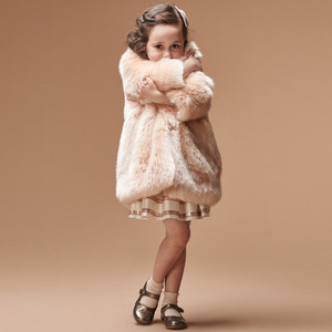 Faux Fur Coat (blush)