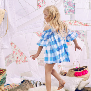 [3y]Sasha Dress (blue plaid)