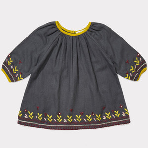 (18m)Lydford Baby Dress (dark slate)