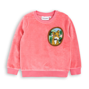 Fox Velour Sweatshirt (pink)