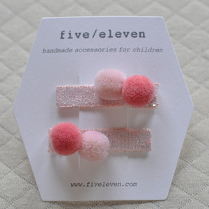 Pompom Clip (cotton candy)