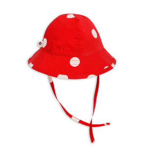 [44/46]Dot Sun Hat (red)